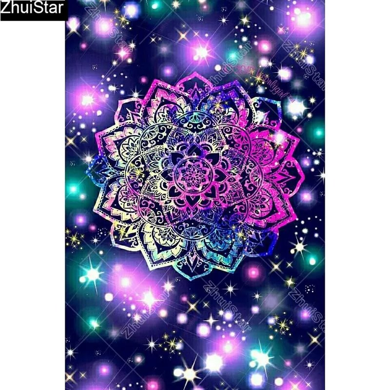 Diamanttavla Colorful Mandala 40x60