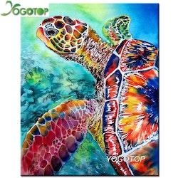 Diamanttavla Sea Turtle  40x50
