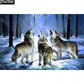 Diamanttavla Woodwolves 40x60
