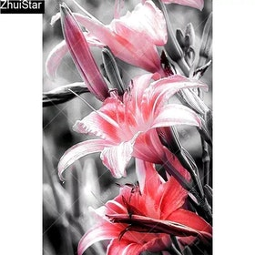 Diamanttavla Redish Flower 40x60