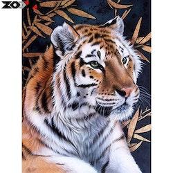 Diamanttavla Tiger Bambu 40x50