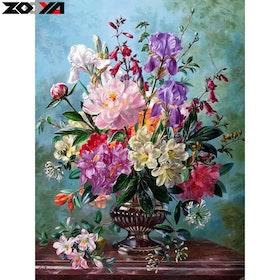 Diamanttavla (R)Flowers In Vase 40x50