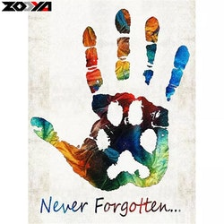 Diamanttavla Never Forgotten 30x40