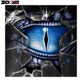 Diamanttavla Dragon Eye 40x40