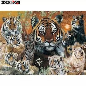 Diamanttavla Wild Tigers 50x60