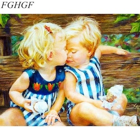 Paint By Numbers Cute Children