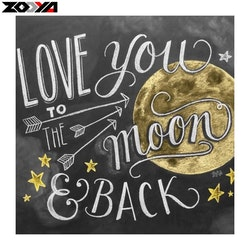 SNART I BUTIK  - Diamanttavla (R) Love You To The Moon 40x40