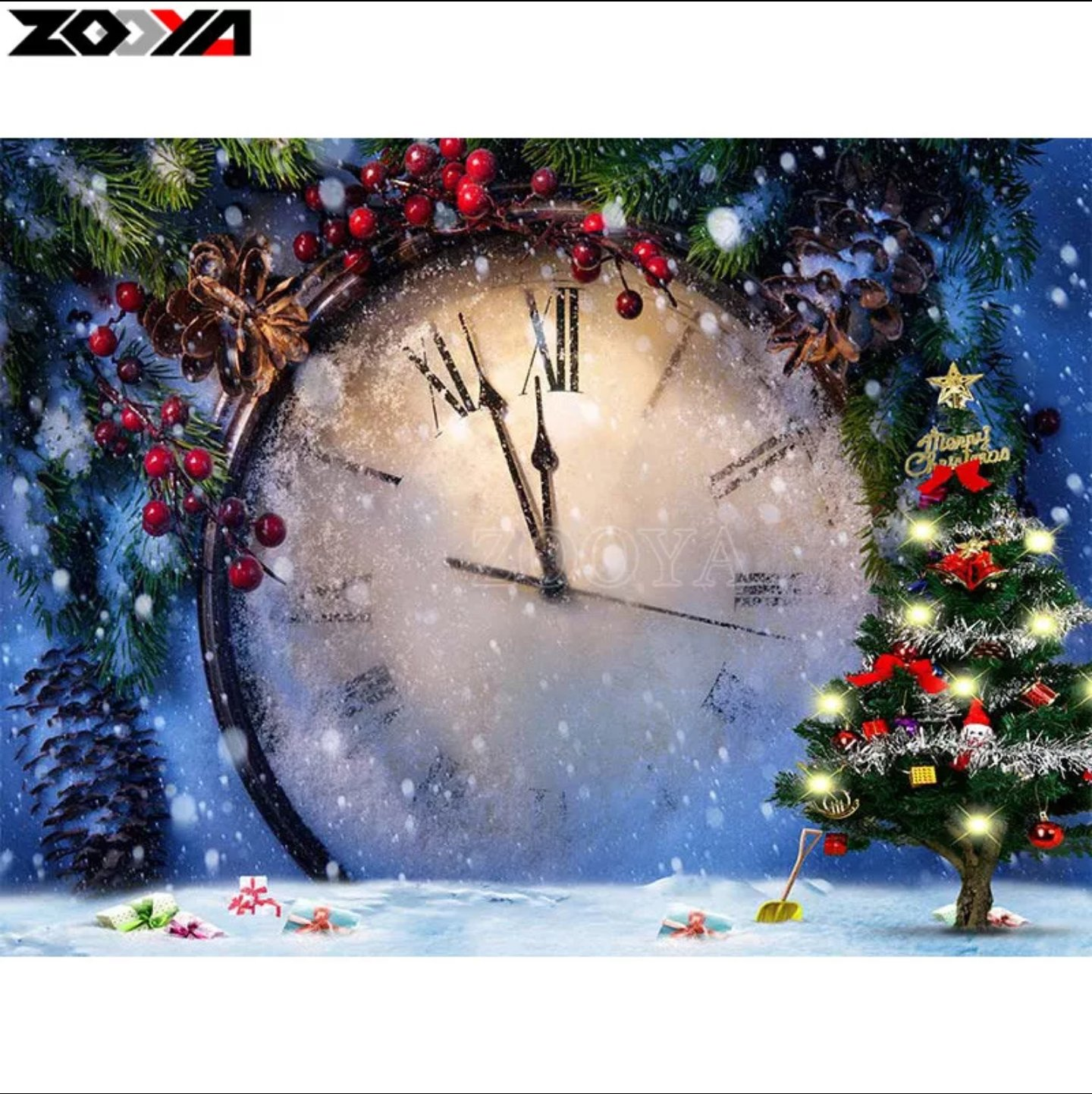Diamanttavla Time For Christmas 40x50