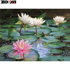 Diamanttavla(R) Lotus 40x50