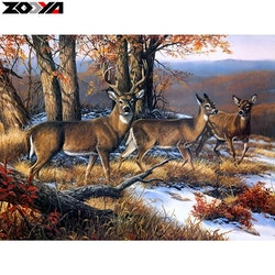 Diamanttavla (R) Deer On Mountain 50x70