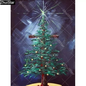 Diamanttavla Christmas Tree 30x40