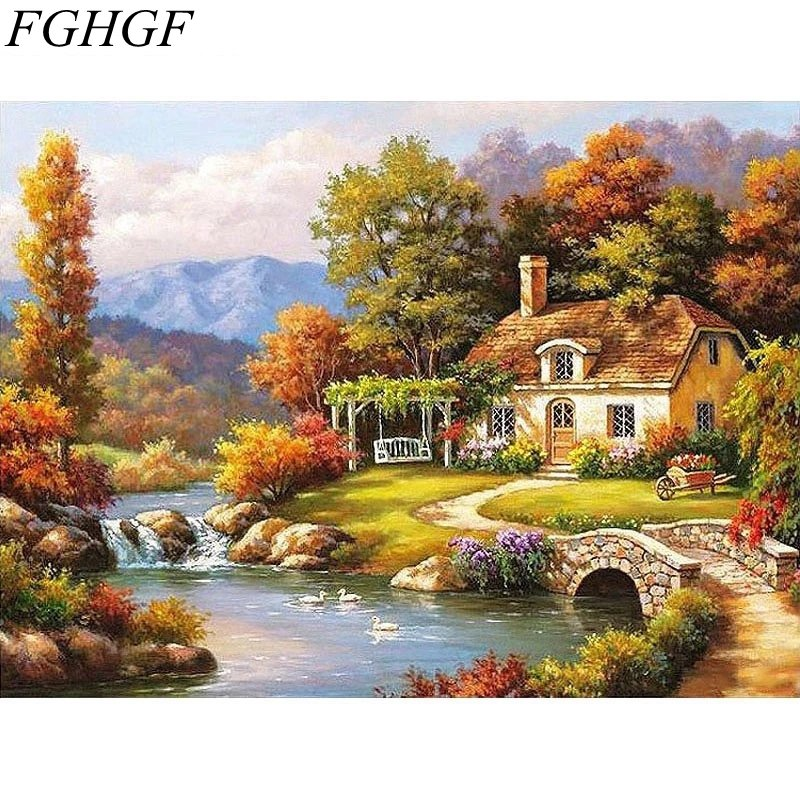 Paint By Numbers Fairyland Landscape 40x50