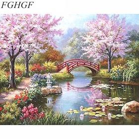 Paint By Numbers Paradise Landscape 40x50