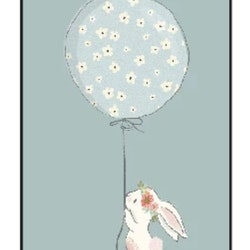 Poster Rabbit With Balloon 30x40
