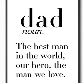 Poster Dad 30x40