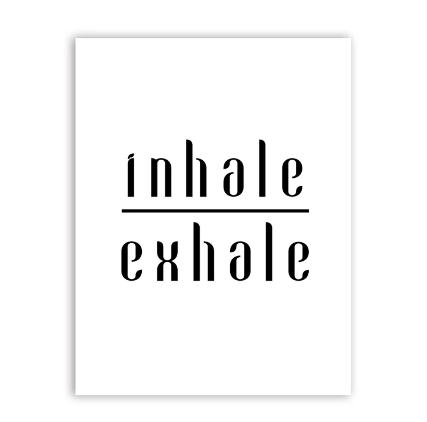 Poster Inhale Exhale 40x50