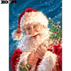 Diamanttavla Happy Santa 40x50
