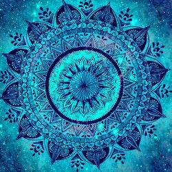 Diamanttavla Mandala Blue 50x50 - Leveranstid 1-3 Dagar