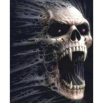 Diamanttavla Skull 50x70 - Leveranstid 1-3 Dagar