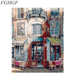 Paint By Numbers French Bistro 40x50
