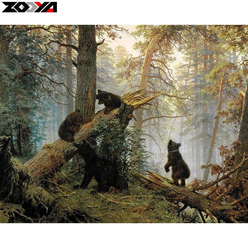 Diamanttavla Bears 40×50