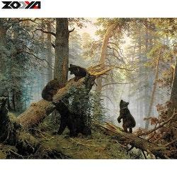Diamanttavla (R) Bears 40×50