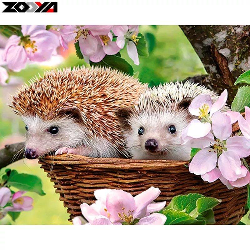 SNART I BUTIK - Hedgehog And Flower 30x40