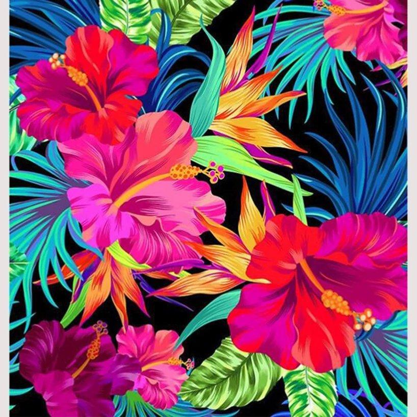 Diamanttavla Flower Art 40x40