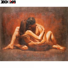 Diamanttavla Loving Couple 40x50