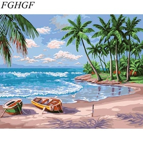 Paint By Numbers Tropic Beach 40x50