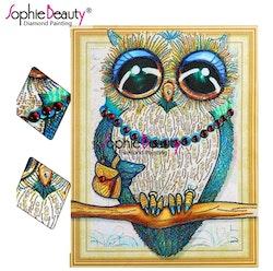Diamanttavla Special Cute Owl 40x50