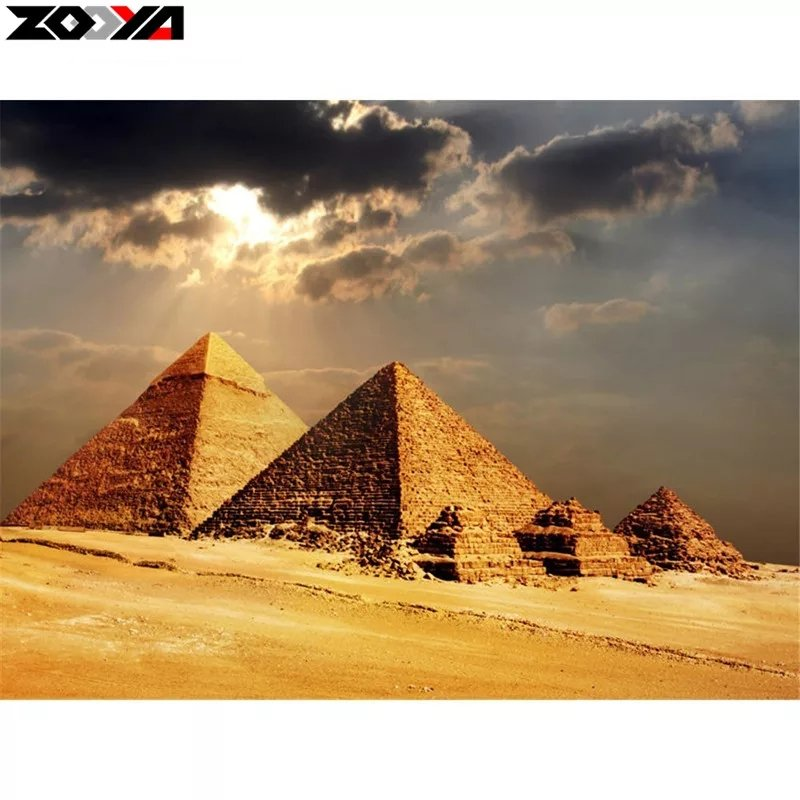 Diamanttavla Pyramider 40x50
