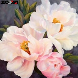 Diamanttavla(R)Pinky Flower 40x40