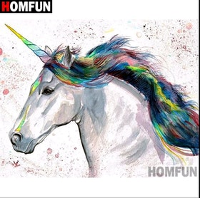 Diamanttavla Color Unicorn 40x50