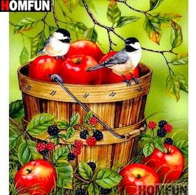 Diamanttavla Birds And Fruits 30x40