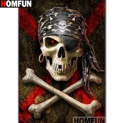 Diamanttavla  Pirate Bones 40x50