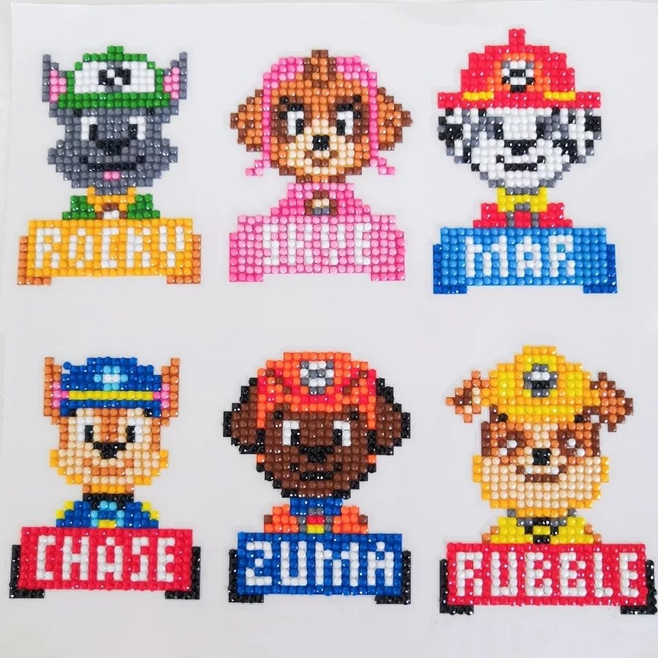 Stickers Paw Patrol 6 st