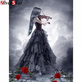Diamanttavla Violin Girl 40x50