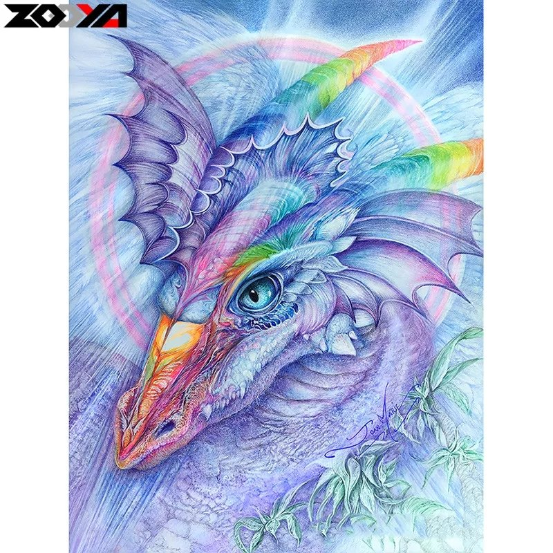 Diamanttavla Rainbow Dragon 40x50