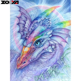 Diamanttavla Rainbow Dragon 40x50
