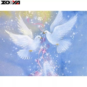 Diamanttavla Blessing Pigeon 30x40