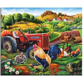 Diamanttavla On The Farm 40x50