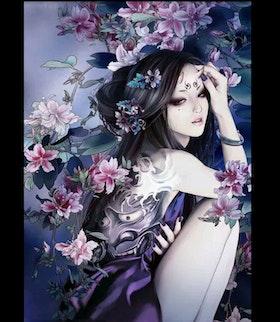 Diamanttavla Geisha Deamon 40x50