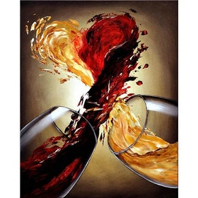 Diamanttavla Wine Heart 40x50