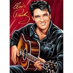 Diamanttavla Elvis Guitar 40x50