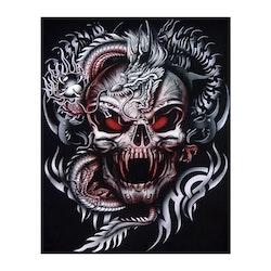 Diamanttavla (R) Dragon Skull Head 40x50