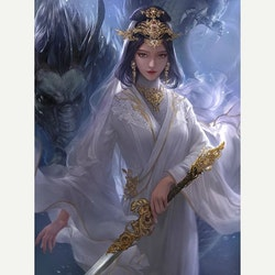 Diamanttavla Dragon Princess 50x60