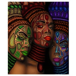 Diamanttavla Painted Women 40x50