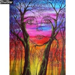 Diamanttavla Tree Face 40x70