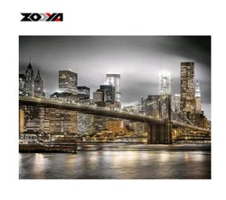 Diamanttavla City By Night 40x50